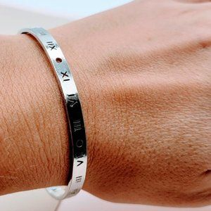 5 for $25 Silver Engraved Cuff Bangle Bracelet